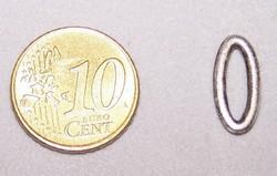 Metalen sierring #4  16 x 7 mm