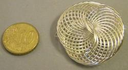 Memory wire metalen sierkraal zilverkleurig 37mm