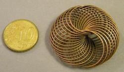 Memory wire metalen sierkraal koperkleurig 37mm