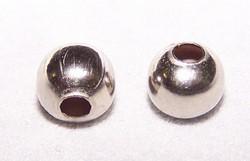 25 nikkelkleurige metalen balletjes 6 mm