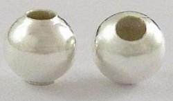 25 zilverkleurige metalen balletjes 6 mm