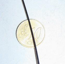 1 meter 1mm gecoat staaldraad zwart