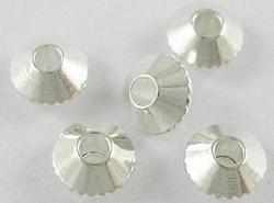 20 metalen bicones 4mm zilverkleurig