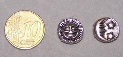 Metalen kraal MK72 zon maan sterren nikkelvrij