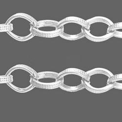 Ketting licht zilverkleur 6,7 x 8,2 mm KZ–03 1 meter