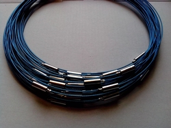 Spang met draaislot +/– 45cm lang Blauw