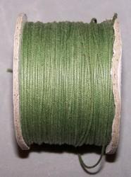 Waxkoord 0,5 mm olijfgroen #12 x
