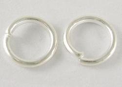 100 5mm ringetjes zilverkleurig
