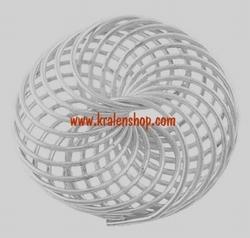 Memory wire metalen sierkraal zilverkleurig 22 mm