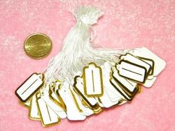 100 prijskaartjes met gouden rand
