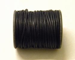 10 rollen van 25 meter Waxkoord 2 mm zwart