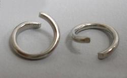 50 extra dikke open 5mm ringen nikkelkleurig
