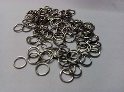 100 6mm ringetjes nikkelkleurig