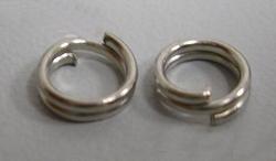 50 dubbelringen 10mm nikkelkleurig Nikkelvrij
