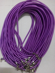 3mm zijde gekleurde ketting met verlengketting #8 lichtpaars