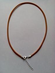 3mm zijde gekleurde ketting met verlengkettinkje #10 goud