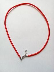 3mm zijde gekleurde ketting met verlengkettinkje #13 Rood