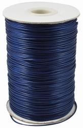 Waxed-poly koord 1mm HQ-115 darkblue