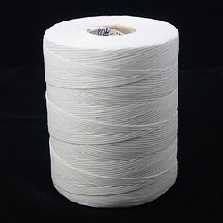 Waxed Cotton 1x0,4mm wit