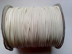 Waxed cotton 2mm HQC-108 wit