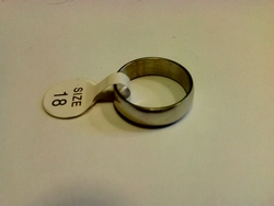 Ring glad RVS 18mm diameter rond 57mm