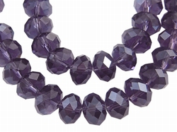 kristal facet kraal 6 x 8 mm indigo glans 07L