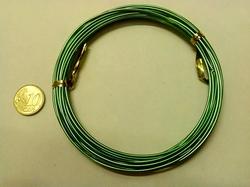 Aluminium draad, 1,5 - 2 mm dik.  +/- 6 meter