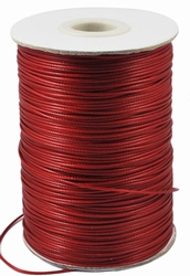 Waxed-poly koord 1mm HQ-118 dark red