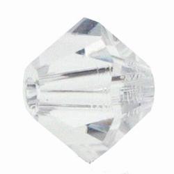6mm Bicone Czech Crystal #001