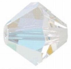 8mm Bicone Czech Crystal #101 AB
