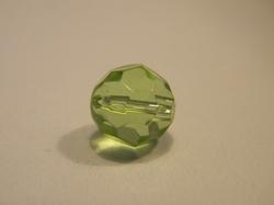 10 mm facetkraal rond lichtgroen