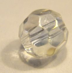 8mm facetkraal crystal AB #1-ab