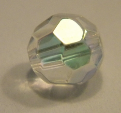 8mm facetkraal crystal olieglans #28-ab