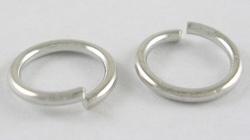 20 stuks 12mm ring zilverkleurig