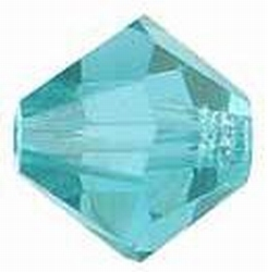 Swarovski 6mm type 5301 Blue Zircon