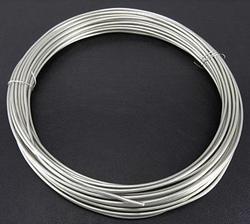 Aluminium draad, 1,5 mm dik.  +/-  10 meter