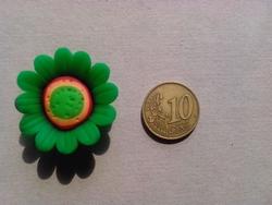 Fimoklei Bloem 30mm #34-groen
