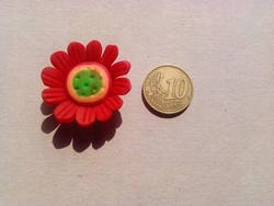 Fimoklei Bloem 30mm #34-rood