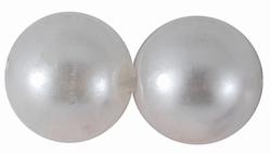 "50 stuks 12mm kunststof kralen ""white"""