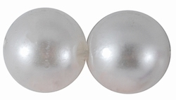 "80 stuks 10mm kunststof kralen ""white"""