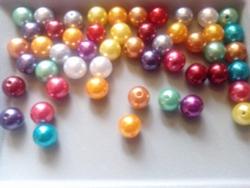 """50 stuks 12mm kunststof kralen """"kleuren mix"""""""