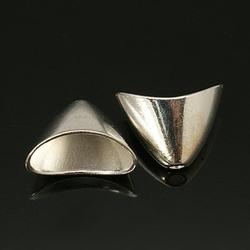 10 Kraal kapjes #00 Nikkelvrij Zilverkleur