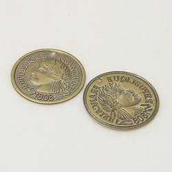 Metalen bedel MH-113 Bronzen muntje