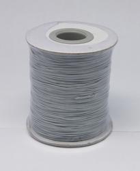 Wax koord 0,5mm licht grijs