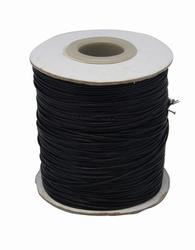 Wax koord 0,5mm zwart