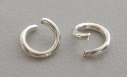 50 extra dikke open 8mm ringen zilverkleurig