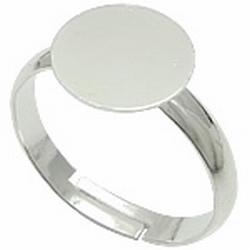 Metalen ring 17,5 - 19 mm zilverkleur nikkelvrij