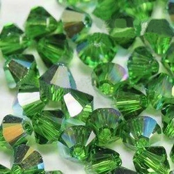 Swarovski 4mm type 5301 fern green