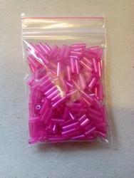 10 gram glazen buisjes 6 x 2 mm kleur 16 roze
