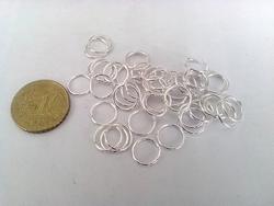 50 9mm ringetjes zilverkleur nikkelvrij